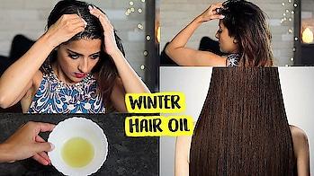 Favourite Winter Hair Oil For Hair Growth & Thickness   Home Made   Knot Me Pretty #hairinspo #hairideas #hairfashion #hotd #hairofinstagram #skincare #haironfleek #fashiongram #indianblogger #hairblogger #indianyoutuber #fashionstyle #fashiongram #style #outfit #fblogger