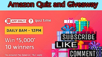 Amazon Quiz Answer Today | Win ₹5,000 | 10 Winners | 5 December , Amazon Quiz and Giveaway #xxx18 #xxx #xxxmovie #xx #xxxfilm #contestalert