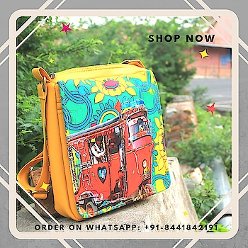 Accessorise your casual style statement with this Sling Bag , design is inspired from taxis of Shekhawati. This quirky and chick sling bag will surely jazz up your appearance. A stylish sling bag, made from high quality canvas fabrics with an adjustable strap and a zip closure is sure to fetch you oodles of compliments from your friends. Bag is having magnetic Closure button and a mobile pocket.  #slingbag #canvasbag #sikar #designerbag #onlineshopping #buyonline #fashion #handbags #designerproducts #bagslover #indiandesigner #instafashion #instastyle #bags #Womens #jaipur #streetstyle #fashionista #quirkyfashion #quirkyaccessories #slingbag      https://www.fatfatiya.in/bags/sling-bags.html https://www.fatfatiya.in/