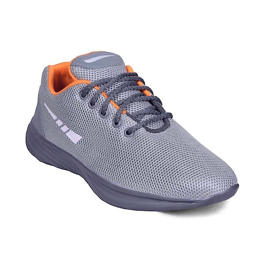 MEN MESH LACE UP GREY RUNNING SHOE   PRODUCT DETAILS Color: Grey Type: Sports Shoes Material: Mesh  SHIPPING & DELIVERY Shipping Charges: FREE Delivery: Within 6-8 business days SIZE CHART FOR MEN MESH LACE UP GREY RUNNING SHOE SizeFoot Length  (cm) UK625.1 UK725.7 UK826.0 UK926.7 UK1026.9