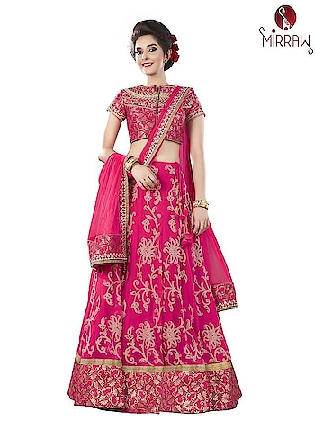A gorgeous and trendy #PinkLehenga available at Mirraw, in affordable price. To see more designs visit a website : https://www.mirraw.com/store/lehengas/colour-pink  #PinkLehengaOnline, #PinkLehengasOnline, #PinkLehengaDesigns