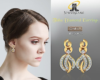 Tisha #diamond dangle #earrings set in #hallmarked #14kgold in a light & delicate dangle drop #style #Jewelslane. http://bit.ly/2BSnIZg