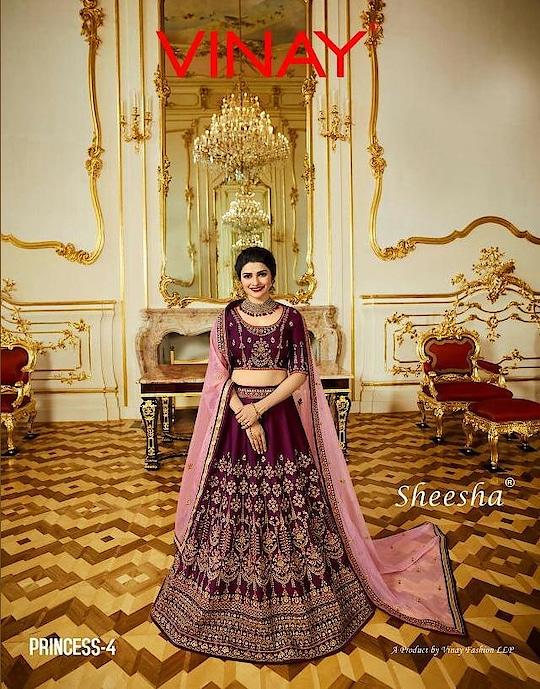 Vinay Sheesha Princess 4 Bridal Lehenga Choli Wholesale Catalog Price per Piece :- ₹3,775 + ₹453 (GST 12%) MOQ :- 8 Pcs. Fabric :- SPARKLE SILK WITH SILK DUPATTA Upcoming Date :- 15/12/2018 Product link :- https://castillofab.com/vinay-sheesha-princess-4-bridal-wear-lehenga-choli-exporter ------------------------------------------------------------ Call/whatsapp :- +91 8530 23 23 30 Visit our website :- www.castillofab.com ----------------------------------------------------------- #lehenga #bridallehenga #weddingwear #weddinglehenga #lehengaformarriage #heavylehenga #choli #ethnicwear #indianwear #suratlehenga #castillofab #bridalcollection #newlaunchlehenga #latestlehenga #bestpricecholi #dulhanlehenga