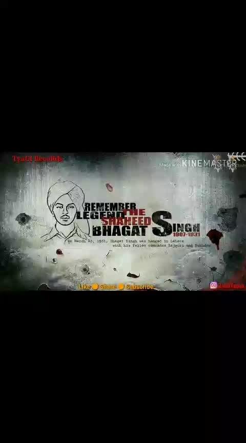 Bhagat singh #bhagatsingh #deshbhakti #roposo-freedom #fighter