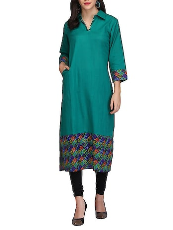 Green Cotton Straight Kurta  trims :  none closure :  none sleeves :  three quarter occasion :  casual wear color :  green lining material :  none product description :  printemps cotton straight kurti no. of pcs :  none attached sleeves :  yes transparency of the fabric :  not transparent type :  straight neck type :  shirt collar sleeves material :  cotton brand name :  printemps work :  none  #womens #clothing #desinger #stylish #fashionable #printed #casual #fashion #womensfashion #womenstop #womenskurti #kurti #top #trendy   Buy Now:- https://bit.ly/2PG3jLN