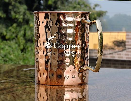 Hand Crafted Copper Hammered Mug