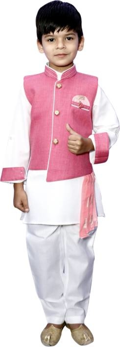Click here to buy more options:-https://bit.ly/2EkuWaZ    Flaunt your prince's personality by dressing him in this party wear 3- piece indo western set from Lakxhy. Made from cotton Blend fabric. The fit is regular for boys clothing.   #kids  #kurtapajama #casualkurta #kidskurta #cottonkurta