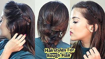 Medium Hairstyles For Dry Rough Hair / Quick & Easy Tips   Knot Me Pretty #hairinspo #hairideas #hairfashion #hotd #hairofinstagram #skincare #haironfleek #fashiongram #indianblogger #hairblogger #indianyoutuber #fashionstyle #fashiongram #style #outfit #fblogger