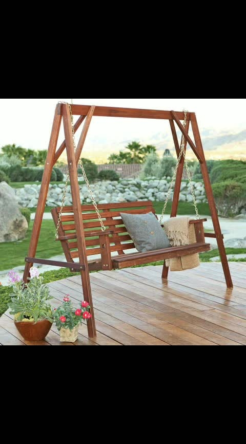 Relax in nature with a cozy Swing 🤩 #roposo #roposocreativity #roposovideo #roposo-haha #roposo-photoshoot