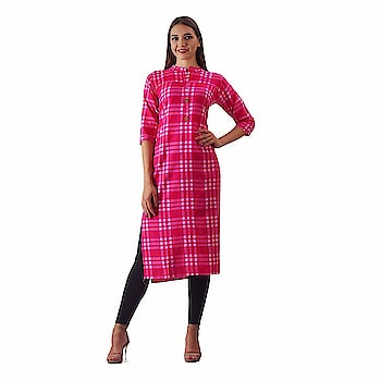 Swabha checkered straight kurti for women  Care Instructions: Handwash Fabric : Cotton Sleeve Type : 3/4 Sleeve Occasion : Casual ,Formal ,Office Wear and many more Wash care : hand wash or dry clean  Buy Now :- https://amzn.to/2L1Y0nW  #womens #clothing #kurti #top #womenskurti #designer #printed #fashionable #simple #comfortable #fashion #anarkali #longkurti #casual #partywear