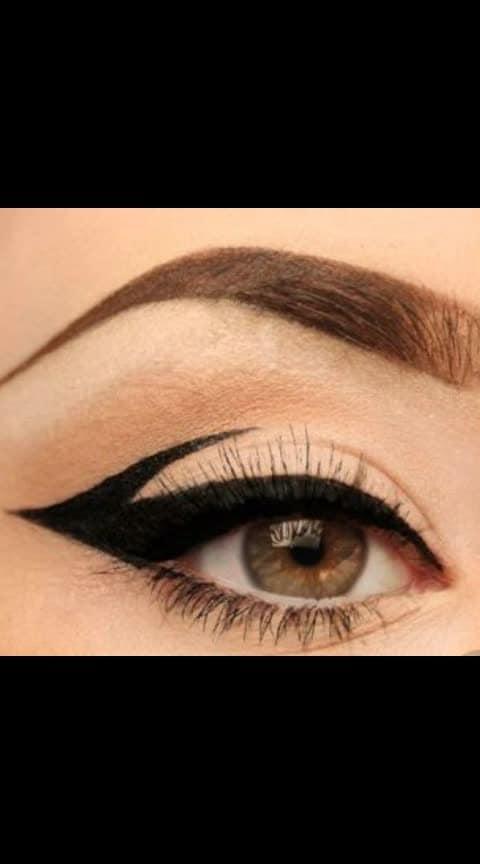 #eyes #eye-makeup #eyemakeuptutorial #eyeliner #eyelineronfleek #eyelinerstyles #ombre eyeliner #winged eyeliner #long lasting eyeliner #lineronpoint #eyelove #eyelook #eyeliner #ropolover #ropo-good #ropomakeup #roposo-makeupandfashiondiariesthe 😇❤💋💄