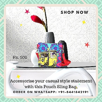 Our Neon Yellow Auto Rickshaw Pouch Sling comes in a combination of yellow sturdy canvas and faux leather adorned with print. Bold floral patterns and a yellow auto rickshaw instantly transport you to the vibrant lanes of Shekhawati. Whether a quick shopping trip to the market or a day off to the beach, this one does well for all purposes. Looking for a fun gift for someone? This could be it! #slingbag #canvasbag #sikar #designerbag #onlineshopping #buyonline #fashion #handbags #designerproducts #bagslover #indiandesigner #instafashion #instastyle #bags #Womens #jaipur #streetstyle #fashionista #quirkyfashion #quirkyaccessories #slingbag      https://www.fatfatiya.in/accessories/utility-pouch/neon-yellow-auto-rickshaw-canvas-pu-pouch-sling-bag.html https://www.fatfatiya.in/