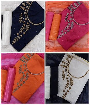Best Selling Fancy Dress Materials...💓 Top - Chanderi Cotton With Hand Work 💯 For Order What-app us (+91) 8097909000 * * * * #salwar #salwarsuits #dress #dresses #longsuits #suitsonline #straightsuit #embroidered #onlinefloralsuit #floral #printedsuits #printed #straightsuits #dupatta #fashion #stylish #love #shopping #ethnic #onlineboutique #celebrity #womenclothing #clothingboutique #womenwithstyle #fashionstyleclothes