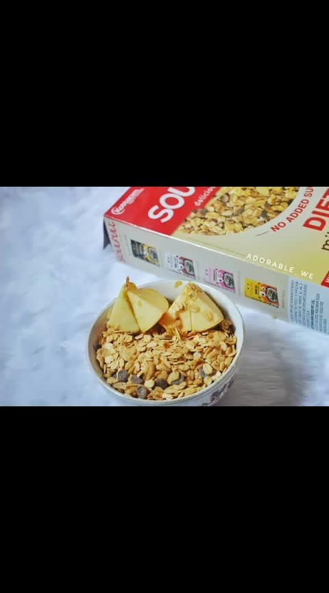 Are you trying your best to choose healthy food but are you offen confused with what to to with? 😣 . . So we have the answer here...!😎 . . 😀Start your Day with Diet Millet  Muesli from @soulfullfood . . 👉About the product - Made with whole grains, and nothing but the grains. High on fibre, no added sugar or preservatives, yet tasty. This Diet millet muesli contains no added sugar. . . 👉Ingredients - Muesli, millet, ragi, diet, no sugar . . 👉Price & Quantity- Rs. 245 for 400 grams (available at a good discount on amazon) . . 👉Impression- 1.For the price and discount available on the product, the quantity is pretty good. 2. The whole product is packed in air tight packaging. 3. The taste of Muesli is so good that even if you are begginer for healthy food this would not be difficult for you to consume. 4.The pack says that it has whole grains and almonds but i couldnot find any almonds in it. 5. Overall i found this Diet Millet Muesli a worth trying one. . . #adorablewe #healthandfitness #muesli #healthybreakfast #breakfast #millet #milletmuesli #weightloss #beatbreakfast #dietbreakfast #soulful #fitness
