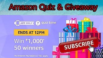 Amazon Quiz Answer To Win ₹1,000 | 50 Winners | 10 December , Amazon Quiz and Giveaway #xxx #xxx18 #xxxmovie #xx #xxxfilm #contest #win #cash
