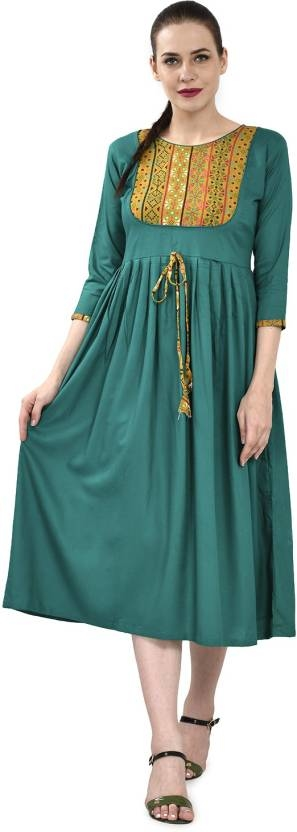 ELENORA Casual Solid Women Kurti  (Green)  Sleeve Type: 3/4 Sleeve Fabric: Reyon Casual Wear Pattern: Solid Pack of: 1 Suitable for: Ethnic Wear  #womens #clothing #designer #printed #stylish #fashionable #trendy #womenskurti #kurtiforwomen #uniqudesign #kurti #long #comfortable #casual #ethnic   Buy Now:- https://bit.ly/2rvgBju