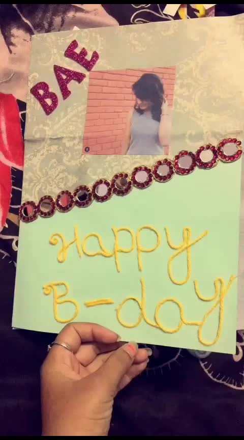 birthday card made by me dm me for this (not free ) payment #birthdaycard #lovecard #frindshipchard #couplecard