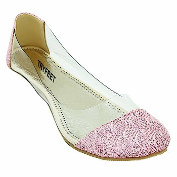Tryfeet Women's Transparent Bellies  Strap Material: Synthetic Leather, Sole Material: PVC Occasion: Casual, Ideal for Womens & Girls 100% quality of products are sure. Tryfeet is an iconic youth brand, designed to match the latest trends of the new generation. A perfect combination of comfort, style, and workmanship.  Buy Now :- https://amzn.to/2QMV4kt