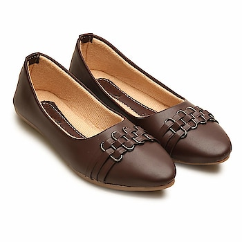 Tryfeet Artificial Leather Brown Casual Bellies for Women  Outer Material: Artificial Leather Lifestyle: Casual and Official & Traditional, Ideal for: Women Comfortable Movement- Allows the feet to move as naturally as possible, particularly around the toe area where maximum flexibility is required. Soft Bottom Sole - Made of the finest formula Our midsole is incredibly soft, flexible, and durable. It is much more resilient and shock absorbent, providing exceptional comfort and ongoing stability in every single step that you take Care Instructions: Allow your pair of shoes to air and de-odorize at regular basis; use shoe bags to prevent any stains or mildew; dust any dry dirt from the surface using a clean cloth; do not use polish or shiner  Buy Now :- https://amzn.to/2QIgm2K
