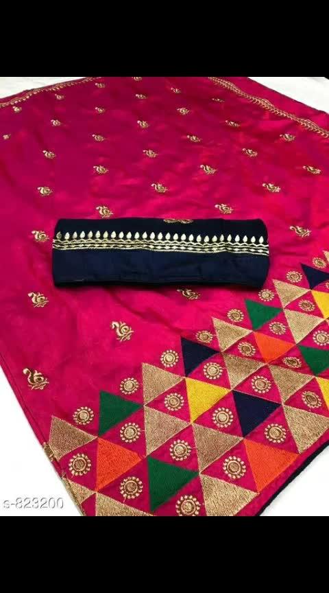 Trendy Sana Silk Embroidery Work Saree Fabric: Saree - Sana Silk, Blouse - Banglori Silk Size: Saree Length - 5.5 Mtr, Blouse Length - 0.8 Mtr Work: Embroidery #sanasilksarees #embroideredwork #banglorisilk #shopwithus #buyitnow #thebazaar #cashondelivery #followusonroposo