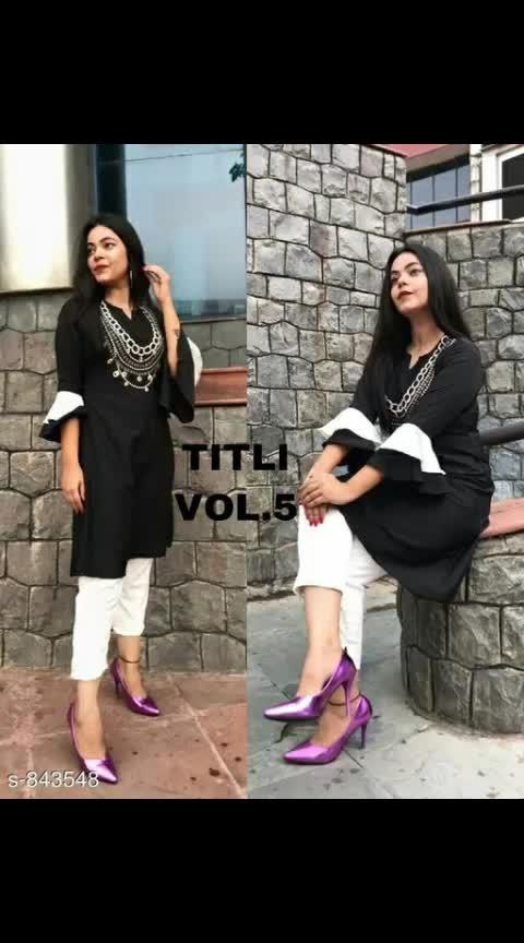 Elegant Rayon Kurta Set Fabric: Kurti - Rayon, Pant - Rayon Sleeves: Ruffle Sleeves Are Included Size: Kurti - L - 42 in, XL - 44 in, Pant - L - 32 in, XL - 34 in Length: Kurti - Up To 38 in, Pant - Up To 39 in Work/ Pattern: Embroidery, Pant- Solid #reyonkurtis #kurtaset #kurtisets #embroiderywork #shopwithme #buyitnow #thebazaar #followusonroposo