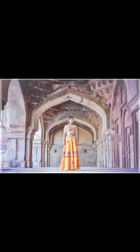 #evolution #photography #posingforcamera #lehenga #choli #indianattire #paintings #inspired #madhyapradesh #yellowdress #ootd #potdtbt