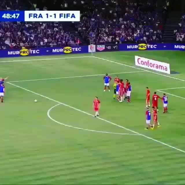 Zidane freekick