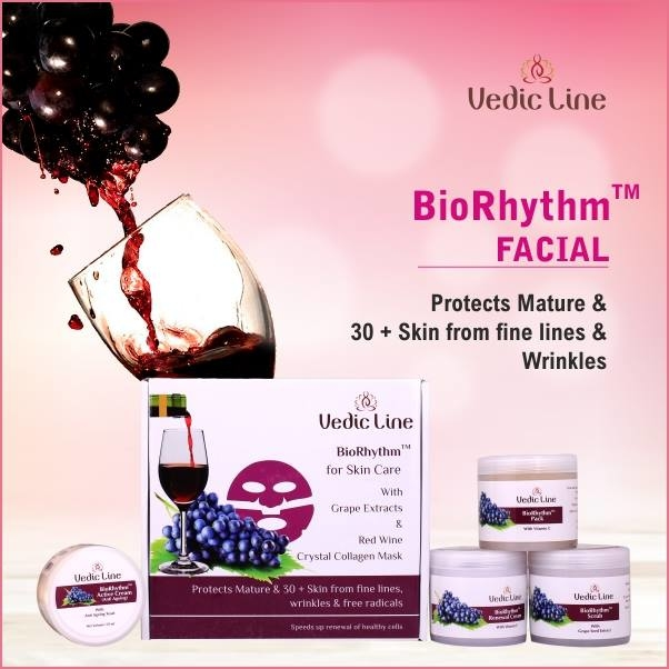 BioRhythm Facial has the #goodness of grape seed. Protects #mature & 30 + skin from fine lines, #wrinkles & free radicals / Speeds up renewal of healthy #cells.  Shop Here : http://bit.ly/BioRhythmFacial  ⭐️ Reduces wrinkles and fine lines  ⭐️ Improves elasticity of the skin.  ⭐️ Provides younger looking skin. ⭐️ Good for Mature & 30+ Skin  #BioRhythmFacial ##Ayurvedic_Science #NaturalIngredients #MatureSkin #wrinkles #Vedicline #EssentialAyurvedia #Skincare #MustHaves #Cosmetics #NaturalCare #AyurvedicFacialTreatment