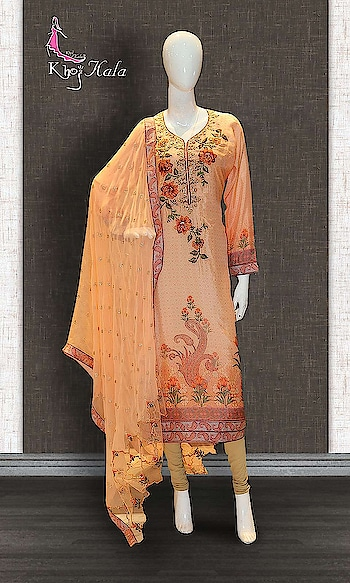 Peach Crepe Straight Suit http://www.khojkaladesign.com/casual-wear-suits/peach-crepe-straight-suit.html  SKU: KHOJ9140  ₹4,405   #salwarkameez #casualsuit #straightsuit #casualwearsalwarkameez #casualsalwarkameez #khojkala  #casualsuitscollection2019 #Christmas #newyear #newyear2019 #casual2019