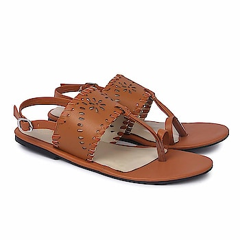 SkoSti Brown Color Stylish Laser Cut Sling Back Kolhapuris Sandals for Women/Girls  Sole: PU Closure: Buckle Upper Material : PU :: Insole Material : PU Color : Brown :: Package: 1 Pair Kolhapuris :: Life Style: Casual, Formal wear, Party Wear Flats. These modern Flats are very Stylish, Fashionable and very easier to wear. Skosti brings you directional and affordable fashion inspired by the catwalk, street style and celebrities. Keep visiting for regular new collections! Comfortable Movement- Skosti Footwear allows the feet to move as naturally as possible, particularly around the toe area where maximum flexibility is required.  Buy Now :- https://amzn.to/2BlEdvA  #Sandals #WomenSandals #Kolhapuris #StrappySandals #MulesSandals #CrossMulesSandals #skosti
