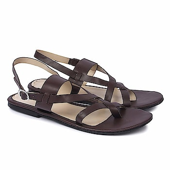 SkoSti Brown Color Stylish Strappy Sandals for Women/Girls  Sole: PU Closure: Buckle Upper Material : PU :: Insole Material : PU Color : Dark Brown :: Package: 1 Pair Kolhapuris |LifeStyle: Casual, Formal wear, Party Wear Flats. These modern Flats are very Stylish, Fashionable and very easier to wear. Skosti brings you directional and affordable fashion inspired by the catwalk, street style and celebrities. Keep visiting for regular new collections! Comfortable Movement- Skosti Footwear allows the feet to move as naturally as possible, particularly around the toe area where maximum flexibility is required.  Buy Now :- https://amzn.to/2Emcn59
