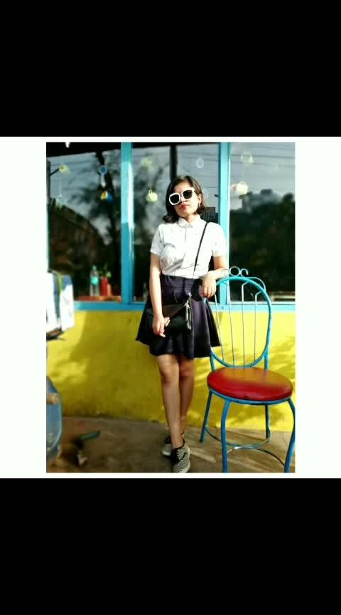 black and white #black #black-and-white #fashion #women-fashion #women-style #fashionables #fashionquotient #allstars #feature #fashionessential #blackskirt #whiteshirt #mywhiteshirt #featurethis
