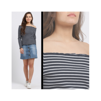 Stripes go with everything!🔥 #stripedoffshouldertop . . . . #trendarrest #trendyoutfits #trendfollowers #trending #stripes #casual #offshoulder #fullsleeves #top #black #white #blacknwhite #colours #bold #fashion #fashionworld #fashionista #fashionmodels #fashiondesigner #instalikes #instafollow #followforfollow #likeforlikes #fridayvibes #tgif #weekendiscoming #postoftheday