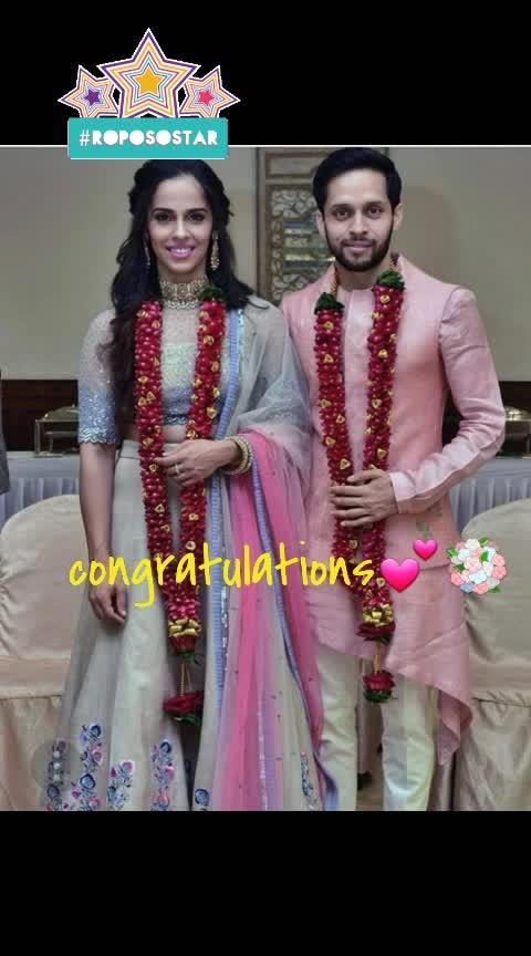 #sainanehwal #paruklkashyap #congratulations #justmarried