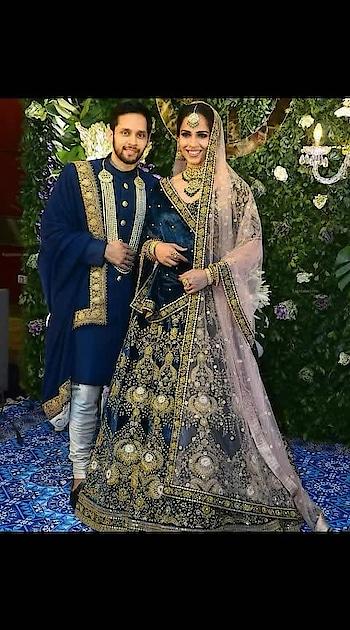 #newlywed #sainanehwal #kasyap #receptionlook #happyvibes