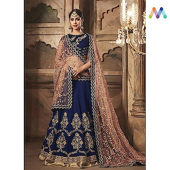 Sway into your happily ever after in this classy #navyblue lehenga set available @ https://goo.gl/h1whLX  Apply Code EOSS10 to get extra 10% Discount on all orders above $99 and 15% discount on all orders above $199 using code EOSS15 PRICE : INR 7200| $106 USD... See more