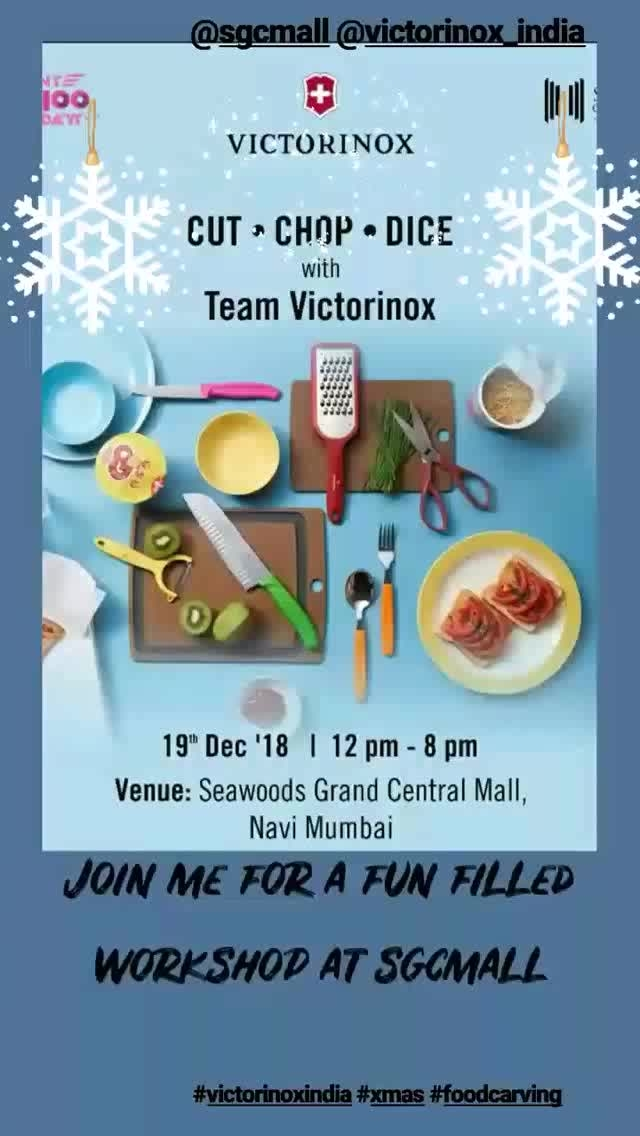 A fun filled food carving workshop by victorinox at sgcmall tomorrow!   #foodphotography #christmas2018