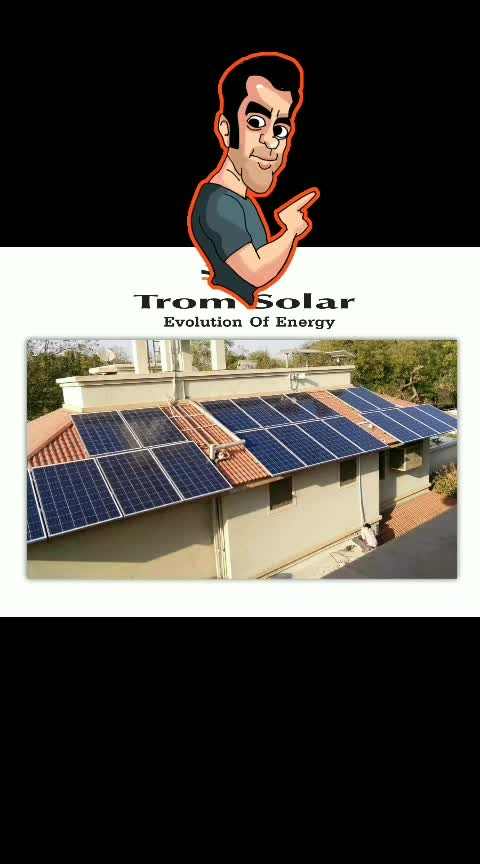 #solar #rooftop #plants  best way to enlight home by self producing electricity.