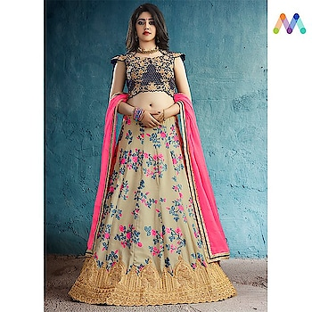 Floral Saga ! Grab this Stunning partywear #Navyblue #Floralprint #lehnga available @ https://goo.gl/oUkFdv  Apply Code XMAS10 to get extra 10% Discount on all orders above $99 and 15% discount on all orders above $199 using code XMAS15 PRICE : INR 4319| $64 USD... See more