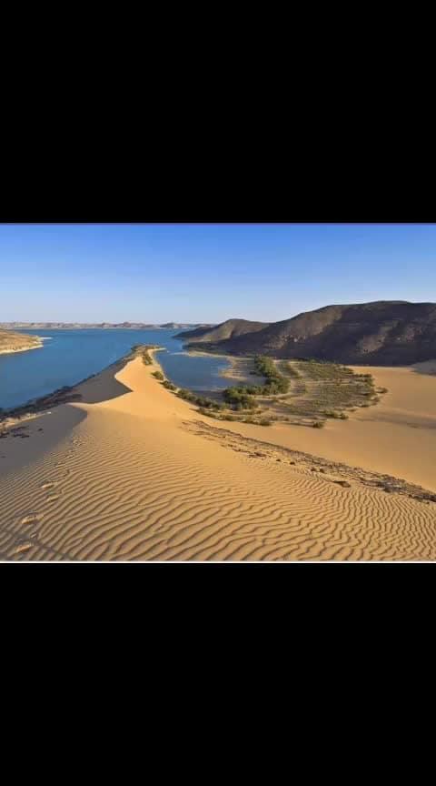 nambia where desert meet with sea