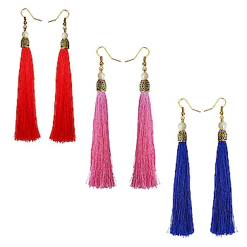 Stylish Long Tassel Earring Combo For Women Rs. 335/- #Buy online Indian Traditional Multicolour Metal Tassel Earrings #Women earring Online #Rudraksha Beads Earring #Buy Women earring Online #Buy Designer Women earring Online #Buy Traditional Girls earring #Buy modern Girls earring #earringsaddict #rudrakshajewellery #earrings gold #jhumka earrings online #earrings artificial #buy fashion earrings online #buy earrings online cheap #jhumka earrings online shopping #artificial earrings online #latest design of gold earrings #gold earring design #malabar gold earrings designs with price #simple gold earrings designs with price #gold earrings with price #gold earring designs images with price