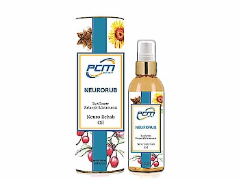 PCM Biotech Neurorub Pain Relief Oil (Neuro Rehab Oil)   Joint pain relief oil For cervical pain, back pain, knee pain, frozen shoulder, muscular pain and arithritis pain. Non sticky Pure herbal ingredients - chemicals Free Suitable Only For Adult For patients of knee pain, shoulder pains, back pain, cervical spondylitis, and arthritis this oil shows magical results. For women with back pain this is an extremely beneficial remedy.  Buy Now :- https://amzn.to/2Slucpi