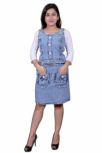 """Future girl Women's Denim Dress  Care Instructions: Dry in shade Fit Type: Regular Fit Classic design Denim Dress with Inner with fine decoration wild style. Team it with pair of flats to step out in style. Best worn in any party, festivals, casually in college, hang outs for elegant and smart look. This Trendy Denim Dress is designed for comfort with regular fits, and the stitching is great fit perfectly on the body. Machine wash ,Wash Seperately in Cold Water , Do not Bleach, Medium Iron, Dry in Shade Future girl ensures each of the design is created with utmost care and attention completes all the checking processes and finally comes to you to give you a beautiful piece which you can admire for your life. Create your own style statement by wearing modish and trendy apparels from the brand """" Future girl"""".  Buy Now :- https://amzn.to/2EMzIxs   #dress #dressforwomen #womensdress #top #topforwomen #womenstop #denimdress #casualtop #casualdress #dressforgirls #girlsdress #girlstop #topforgirls #tops #topsforgirls  #casualtop"""