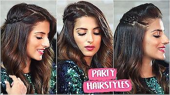 3 EASY Party Hairstyles For Christmas & New Years / Quick Holiday Hairstyles #hairinspo #hairideas #hairfashion #hotd #hairofinstagram #skincare #haironfleek #fashiongram #indianblogger #hairblogger #indianyoutuber #fashionstyle #fashiongram #style #outfit #fblogger