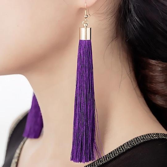 #earringsfordays  #purple