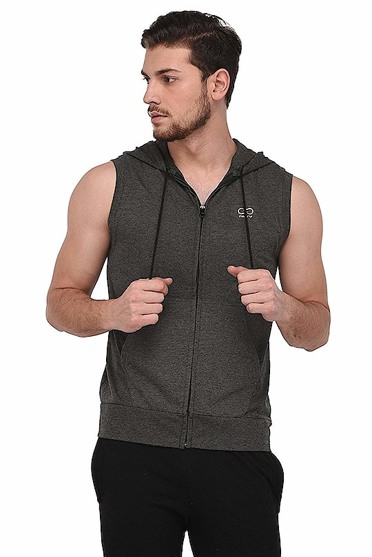 Finity Stylish Dark Grey Cut Sleeve Zipper For Men  Fit Type: Slim Fit All garments are subjected to tests for Fabric dimensional stability test and print quality inspection for colours and wash fastness.Fabric for men that's best suited for Indian weather.  Buy Now :- https://amzn.to/2BFnW4D  #finity #tshirt #shirt #stylishshirt #jacket
