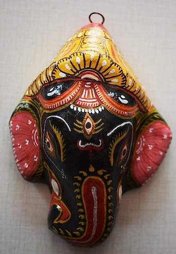 Handmade #beauiful papier machie hand made product #lord-ganesha #walldecorating #handpainted