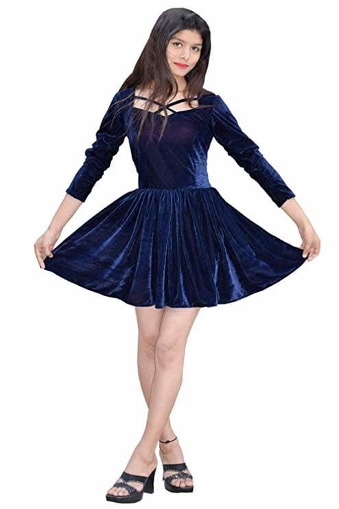 Rajkumari Designer Short Velvet Dress for Womens  Here are some beautiful dresses from the house of Rajkumari Designer for purchasing just click on the image #dress #designerdress #fashionabledress #moderndress #womendress    https://www.amazon.in/dp/B07LCFW435?ref=myi_title_dp
