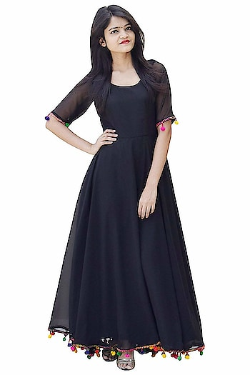Rajkumari Black Georgette with Shantoon Lining Lashkara, Anarkali Dress for Women   Made of premium quality fabric, this Double Flared Maxi Dress is highly comfortable and a perfect pick of the Festival season and other season.  Here are some beautiful dresses from the house of Rajkumari Dress up like princes for purchasing just click on the image #dress #designerdress #fashionabledress #moderndress #womendress   https://www.amazon.in/dp/B07KW5GX9L?ref=myi_title_dp