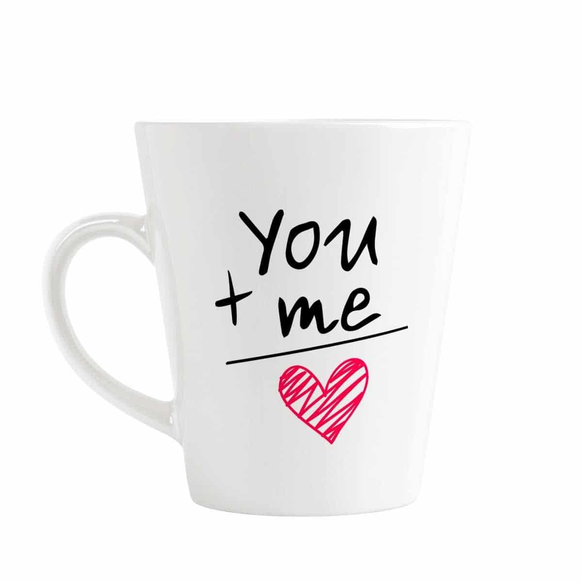 YOU + ME = 💞 Conical Coffee Mug @ Rs. 349/- ☕ 👉 Cash On Delivery Available 👉 Free Shipping  #YouandMe #Conical #Coffee #Mug #GiftIdeas #GiftForHer #GiftForHim #OffersKraft